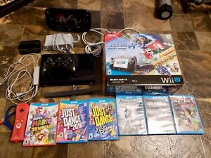 Console Wii U with games and controllers