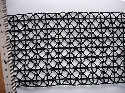 breite Klöppelspitze  schwarz 9,8cm breit  K42.5