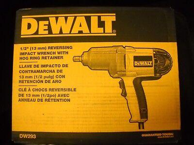 "DeWALT DW293 1/2"" Impact Wrench Hog Ring Anvil Driver Electric Tool NEW"