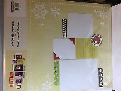 We R Memory Makers Most Wonderful Time White Christmas Pre-made Scrapbook Pages