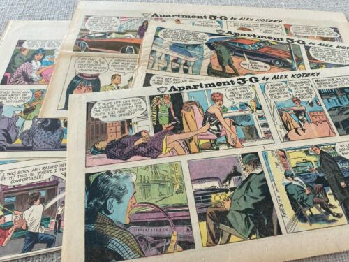 #11  GIRLS IN APARTMENT 3-G by Alex Kotzky   Lot of 10 Sunday Comic Strips 1967