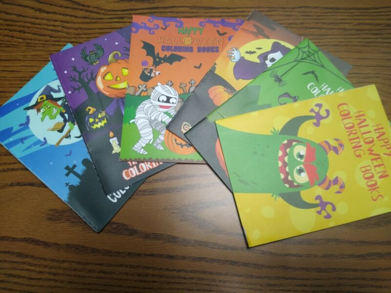 L@@k Group of (6)  Happy Halloween Coloring Books 6 Pages Each  Free Shipping