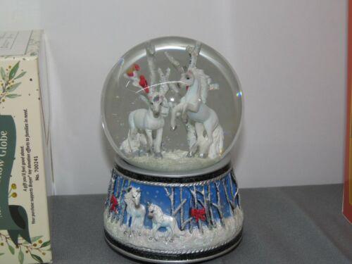 BREYER 2020 Holiday Christmas #700241 UNICORN Forest Musical Snow Globe NIB