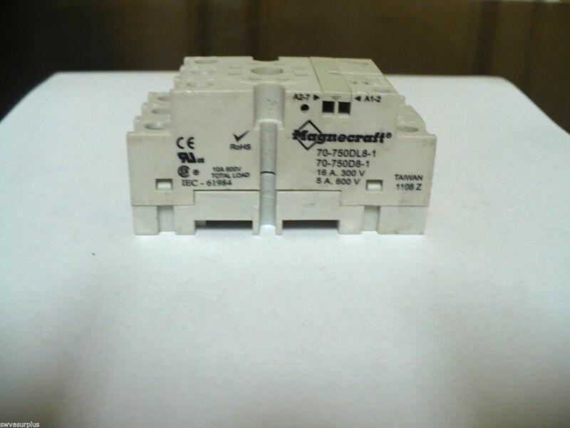 Magnecraft 70-750DL8-1 Relay Socket, New