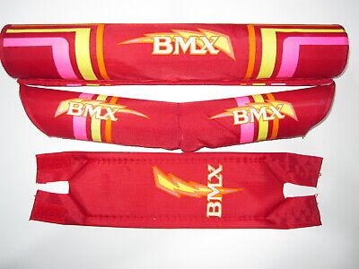"Old School Black BMX Pad Set-8"" Bar Pad 11"" Frame Pad,Small Double Stem Pad"