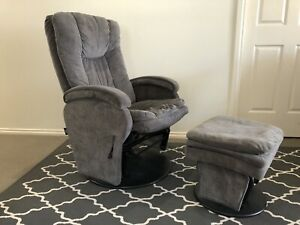 Valco Reclining Baby glider chair and stool
