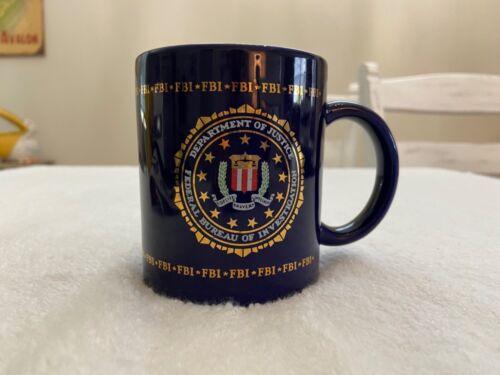 Federal Bureau of Investigation FBI Dept. of Justice Mug Navy Blue