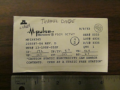 M-pulse Microwave Large Tunnel Diode Mp1x4365 Nos