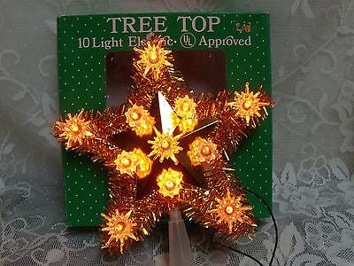 christmas tree topper gold star 10 light  Bradford Novelty Co.