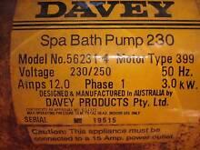 Spa bath water pump (Davis Water Pumps) Lidcombe Auburn Area Preview