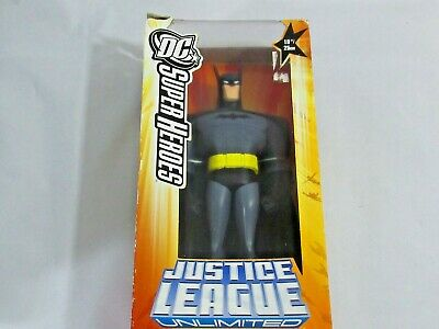 Justice League Unlimited Batman 10 inch vinyl action figure DC JLU yellow box, used for sale  Shipping to India