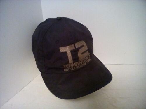 vintage terminator 2 t2 battle across time black snapback hat, origional