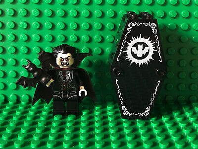 Lego Monster Fighters LORD VAMPYRE MINIFIGURE COFFIN Cape Vampire Dracula 850936