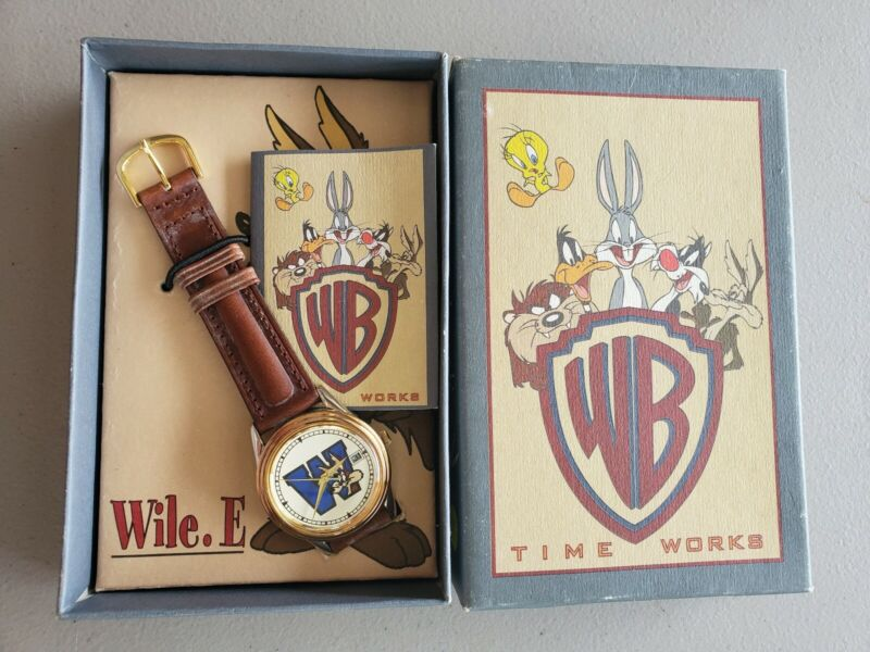 Wile e Coyote Watch, Warner Bros 1993 NIB Time works