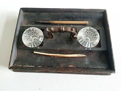 Victorian Wooden Stationery Office Tray.