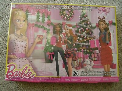 3443) Barbie Mattel Advent Calendar 24 Toy Fashions & Accessories New Sealed