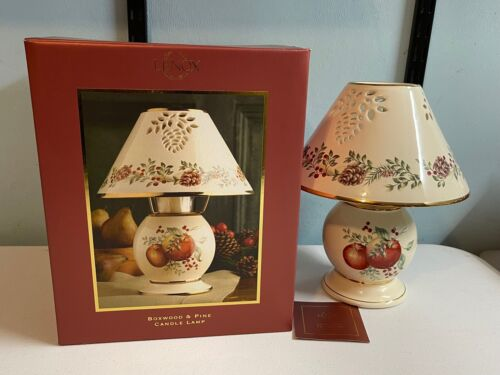 Lenox Candle Lamp - Boxwood & Pine Pattern Candle Lamp *New In Original Box*