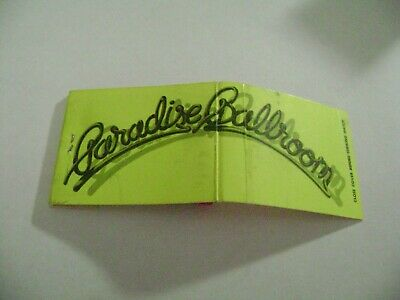 "1- Match Book, ""THE PARADISE BALLROOM"", West Hollywood, CA., complete."
