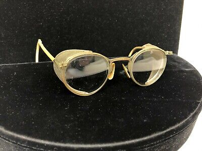 Vintage A/O American Optical Steampunk Glasses Motorcycle Aviator Safety Goggles