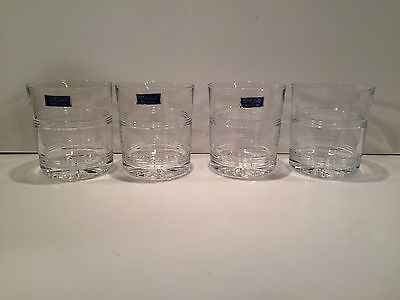 Four (4) Waterford Marquis Double Old Fashioned Glasses
