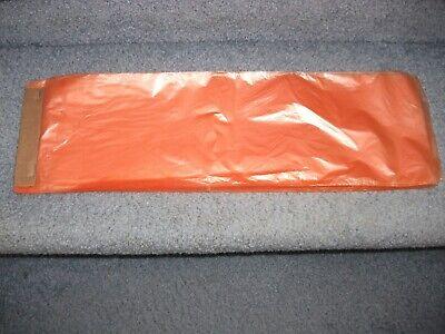 Poly Newspaper Bags 700 Ct. Orange Tint. 7 12x 21 0.7mil Grade.