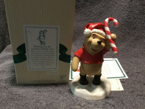 """Disney Pooh & Friends """"Wishing you the sweetest holiday ever"""" FIGURINE - NEW"""