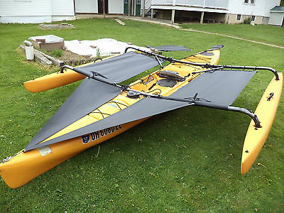 Hobie  Adventure TANDEM   Kayak  Trampoline & splash  shield  Black 2014 & down