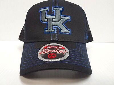 Kentucky Wildcats Cap Zephyr Snapback Staple Trucker Blackout Mesh Hat NCAA Kentucky Wildcats Ncaa Mesh