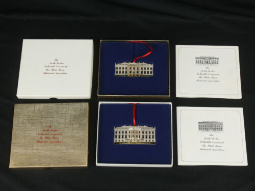 US White House Historical Association Christmas Ornaments North & South Portico