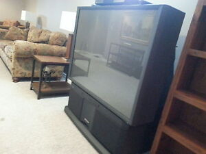 Wanting to trade a fabulous TV for a smaller washer and dryer.