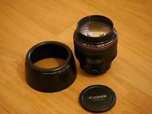 CANON EF 85mm F1.2L II lens in MINT CONDITION +more Canon gear Brighton-le-sands Rockdale Area Preview