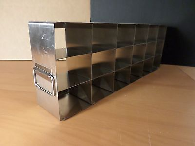 Stainless Steel 18-shelf 3 X 3 X 2 Mini Box Side Access Upright Freezer Rack