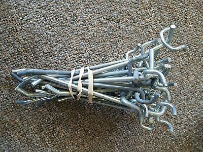Bundle Of Metal Bar Peg Board Hooks 5-inch Long