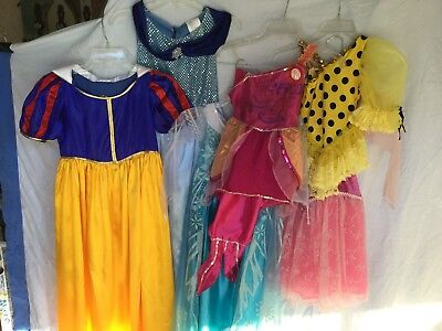 Beautiful Elsa Costume (DISNEY Princess Costumes Mermaid Sleeping Beauty Elsa Cinderella Snow)