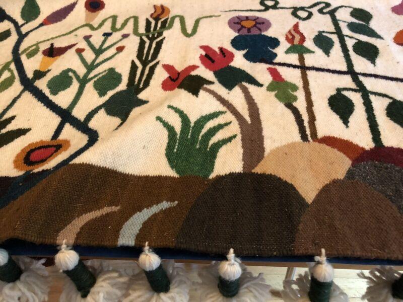 Vintage Handwoven Southwestern Wool Tapestry Artist Signed José C