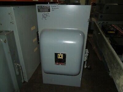 Square D 82254 E1 200a 2p 240vac Double Throw Non-fusible Manual Transfer Switch