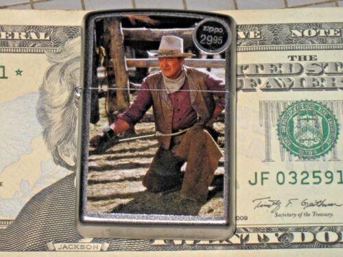 New Windproof ZIPPO USA LIGHTER 85354 JW Cowboys John Wayne Hero carbine Ranch