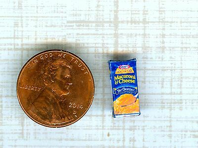 1/2 Half Inch Scale  Dollhouse Miniature Mac-n-Cheese Box