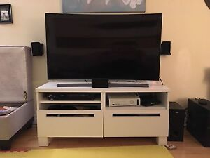 White entertainment unit TV stand