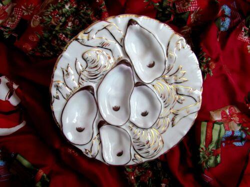 Antique Oyster Plate ~ Sparkler!
