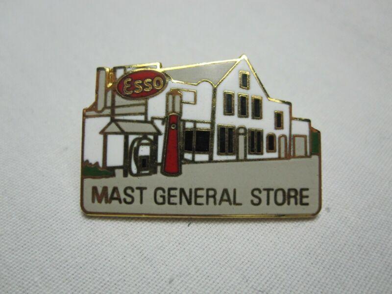 Mast General Store North Carolina Travel Souvenir Pin Valle Crucis Esso Gas