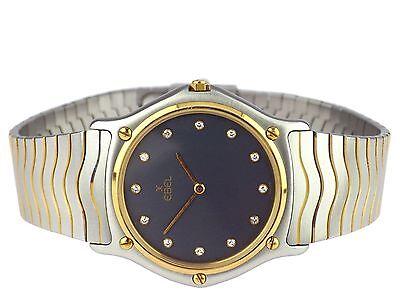Ebel Sport Wave 181903 Schweiz Edelstahl Gold Quarz Damen Herren Armbanduhr 35mm