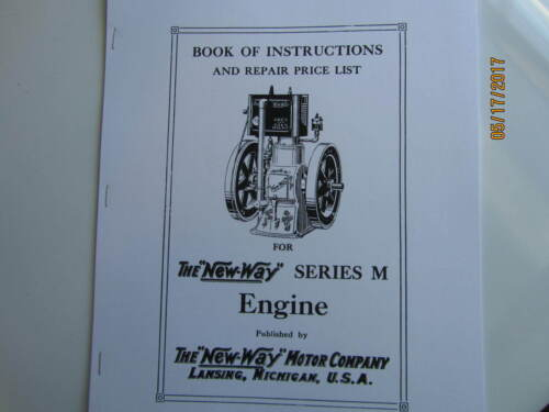 New Way Series M Gas Engine Instruction Parts  Manual