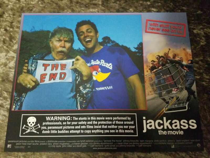 Jackass The Movie lobby cards - Johnny Knoxville  - Set of 8