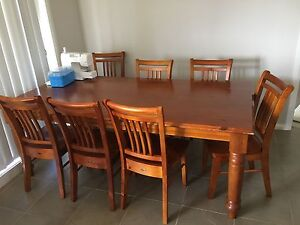 8 seat dining table and chairs Oxley Vale Tamworth City Preview