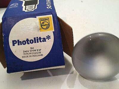 Philips No 1 Photolita Lamp Bulb 240v 275w E27 PF216 E49
