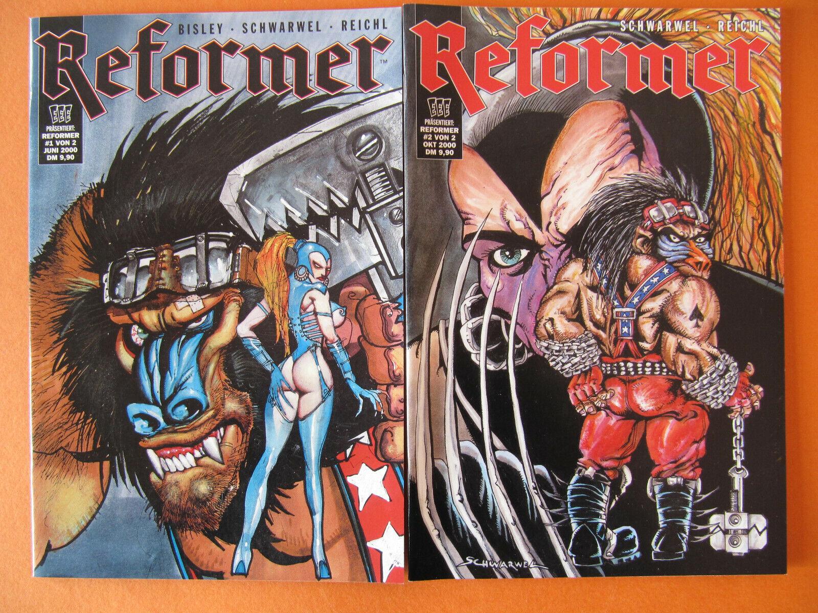 Schwarwel, Bisley: Reformer, Nr. 1 und Nr. 2***neu
