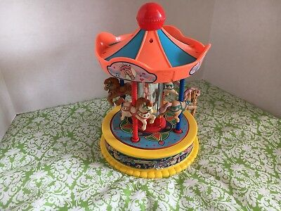 Vintage 1991 Redbox Horse Carousel It's A Small World Works