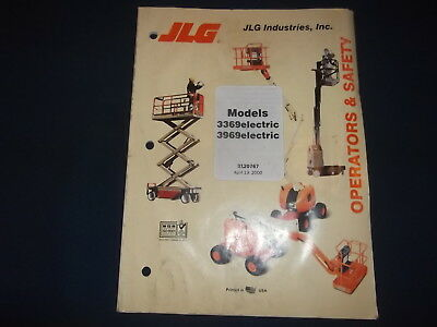 Jlg 3369 3969 Electric Manlift Operator Operation Safety Manual Book