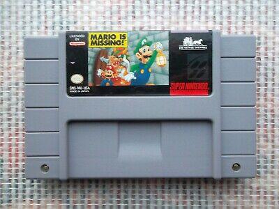 Jeu Super Nintendo / Snes Game Mario Is Missing Ntsc US retrogaming authentic*